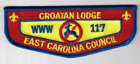 OA 117 Croatan WWW Flap BLU Bdr. East Carolina NC [NY-2106]