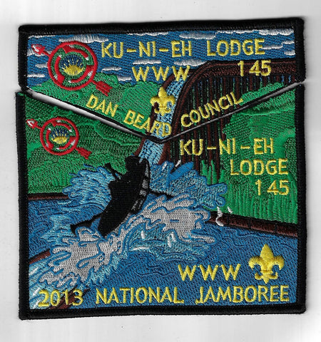 OA 145 Ku-Ni-Eh 2013 National Jamboree Flap Set BLK Bdr. Dan Beard OH [FBL-1682]