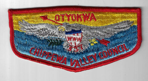 OA 337 Otyokwa Pre-fdl Cb Flap RED Bdr. Chippewa Valley WI [FBL-984]