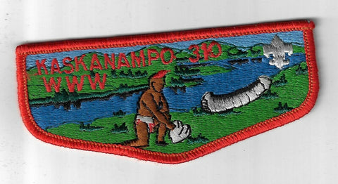 OA 310 Kaskanampo S6 WWW Flap RED Bdr. Tennessee Valley AL [FBL-906]
