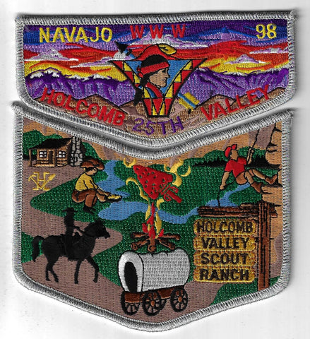 OA 98 Navajo 25th Holcomb Valley Flap Set SMY Bdr. Old Baldy CA [FBL-2608]
