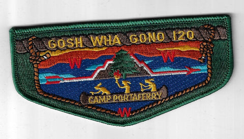 OA 120 Gosh-Wha-Gono Camp Portaferry Flap DGR Bdr. Seaway Valley NY [FBL-3371]
