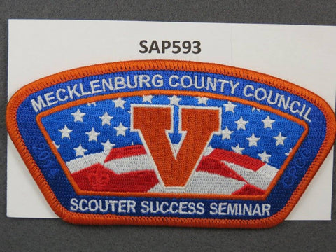 Mecklenburg County Council CSP 2014 Scouter Success Seminar Orange Border - Scout Patch HQ