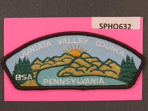 Juniata Valley Council Pennsylvania CSP Brown Border - Scout Patch HQ