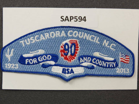 Tuscarora Council North Carolina CSP Blue Border - Scout Patch HQ