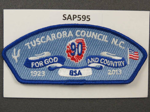 Tuscarora Council North Carolina CSP 2013 90th Anniversary Blue Border - Scout Patch HQ