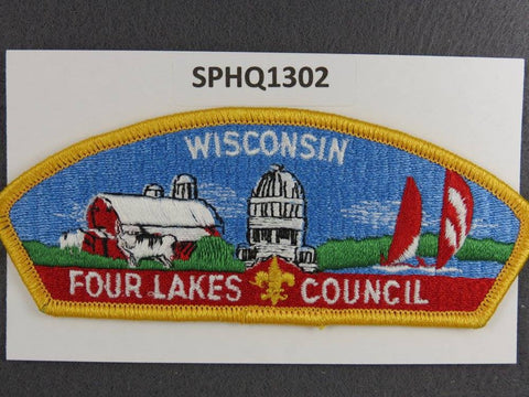 Four Lakes Council Wisconsin CSP Yellow Border - Scout Patch HQ
