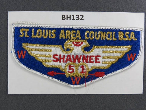 OA Lodge # 51 Shawnee Flap White Border Greater St. Louis Area  [BH132]**