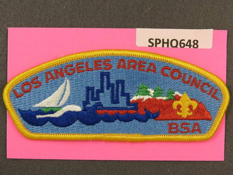 Los Angeles Area Council CSP Yellow Border - Scout Patch HQ