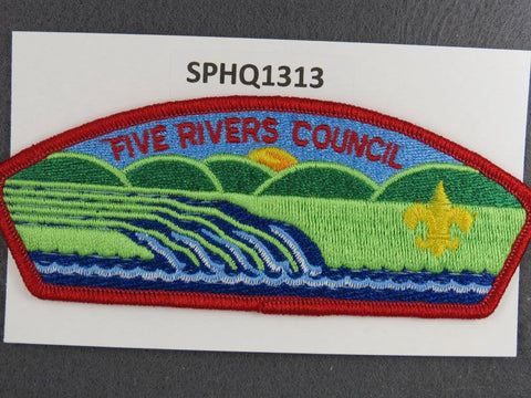 New Rivers Council CSP Red Border - Scout Patch HQ