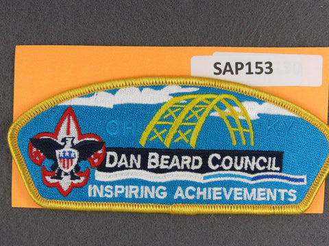 Dan Beard Council Ohio Kentucky Inspiring Achievements Yellow Border - Scout Patch HQ