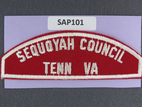 Sequoyah Council Tennessee Virginia RWS Red & White Shoulder Strip