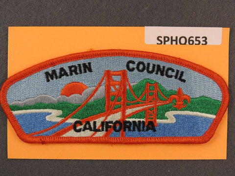Marin Council California CSP Orange Border - Scout Patch HQ