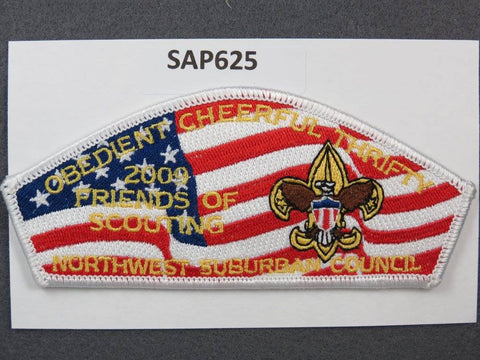 Northwestern Suburban Council CSP 2009 FOS Obedient Friends of Scouting White Border - Scout Patch HQ
