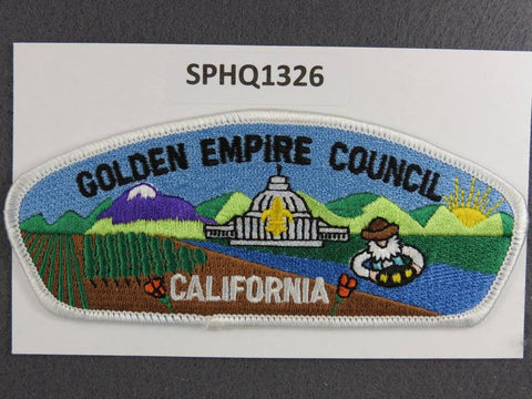 Golden Empire Council California Nevada CSP White Border - Scout Patch HQ