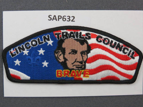 Lincoln Trails Council CSP FOS Brave Friends of Scouting Black Border - Scout Patch HQ