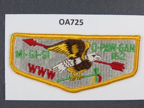 OA Lodge # 162 Migisi Opawgan Yellow Border Detroit Area   Flap [OA725]**