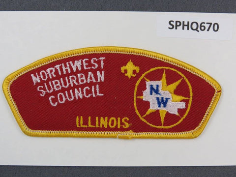 Northwest Suburban Council Illinois CSP Gold Border - Scout Patch HQ