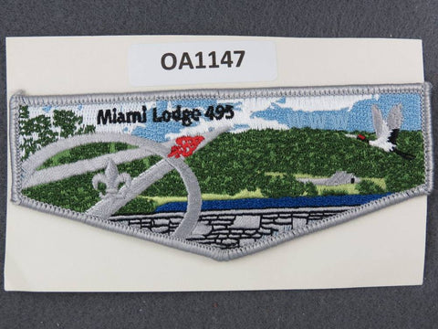OA Lodge # 495 Miami  Valley  Grey Border  Flap [OA1147]**