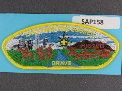Last Frontier Council CSP 2013 FOS Brave Yellow Border - Scout Patch HQ