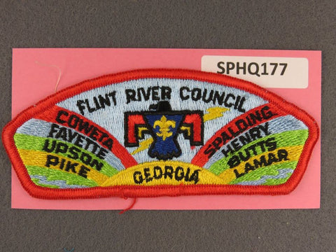 Flint River Council Georgia CSP Red Border - Scout Patch HQ
