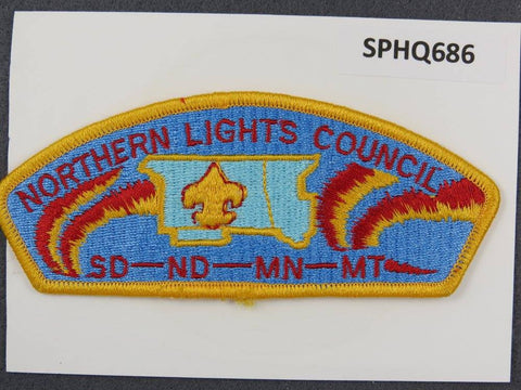 Northern Lights Council South Dakota North Dakota Minnesota Montana CSP Gold Border - Scout Patch HQ