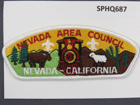 Nevada Area Council Nevada - California CSP White Border - Scout Patch HQ