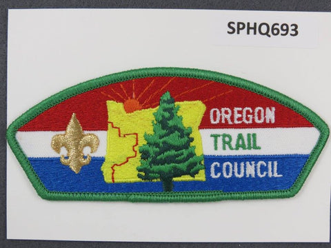 Oregon Trail Council CSP Green Border - Scout Patch HQ