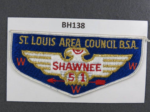 OA Lodge # 51 Shawnee Flap White Border Greater St. Louis Area  [BH138]**