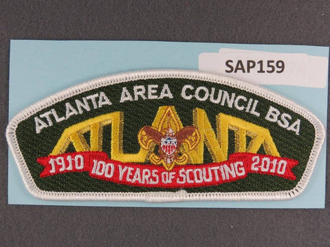 Atlanta Area Council CSP 2010 Years of Scouting White Border - Scout Patch HQ