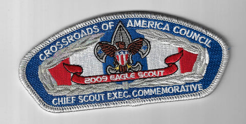 Crossroads Of America Council CSP 2009 Eagle Scout Chief Scout Exec. SMY Bdr. [I
