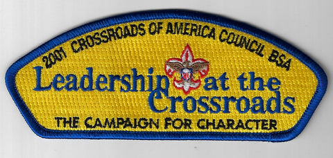 2001 Crossroads Of America Council BSA CSP Leadership at the Crossroads RBL Bdr.