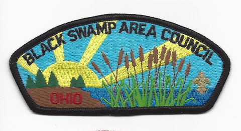 Black Swamp Area Council CSP Ohio BLACK Border [IND-0233]