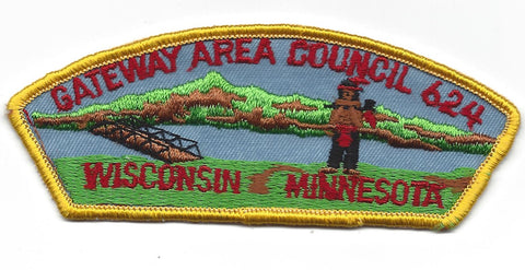 Gateway Area Council 624 CSP Wisconsin Minnesota YELLOW Border [IND-0354]