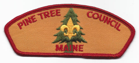 Pine Tree Council CSP BSA Maine RED Border [IND-0524]