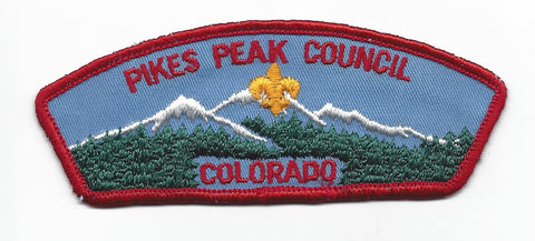 Pikes Peak Council BSA Colorado RED Border [IND-0534]