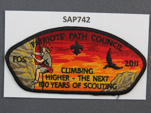 Patriots Path  CSP 2011 FOS Friends of Scouting Black Border [SAP742]>>