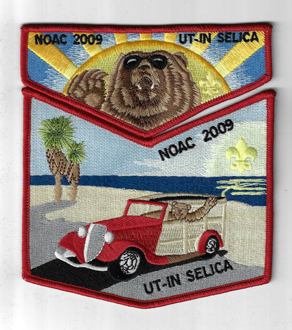 OA 58 Ut-In S?lica 2009 NOAC Flap Set RED Bdr. Mount Diablo-Silverado CA [NY-417
