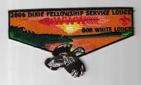 OA 87 Bob White 2006 Dixie Fellowship Flap BLK Bdr. Georgia-Carolina GA [NY-4309