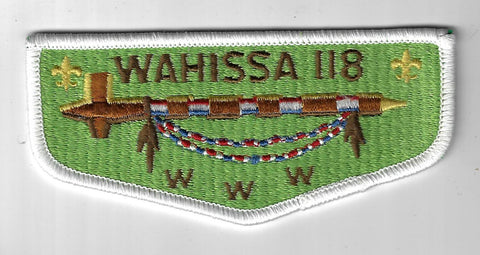OA 118 Wahissa WWW Flap WHT Bdr. Old Hickory NC [FBL-1555]