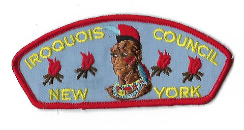 Iroquois Council New York CSP Patch RED Border [NAN-2237]