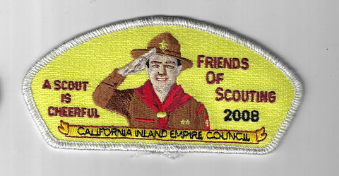 California Inland Empire Council SAP SA-141 A Scout Is Cheerful 2008 SMY Bdr. FO