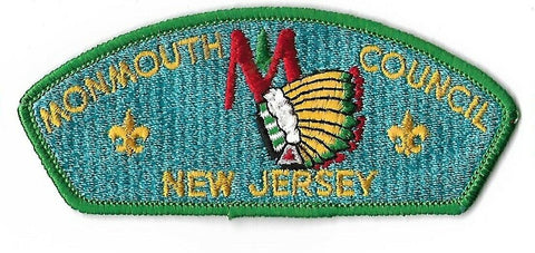 Monmouth Council BSA New Jersey CSP GRN Bdr. [NAN-3170]