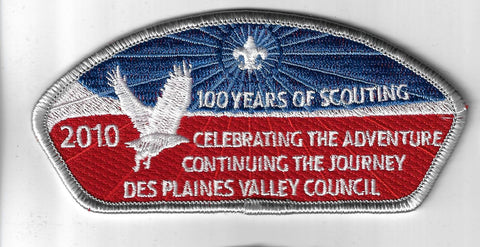 Des Plaines Valley Council SAP SA-14 2010 100 Yrs. Of Scouting GRY Bdr. (CSI $35