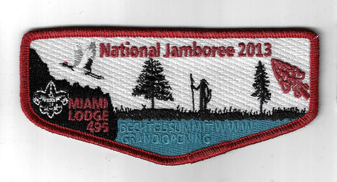 OA 495 Miami 2013 National Jmaboree Flap RMY Bdr. Miami Valley OH [FBL-2423]