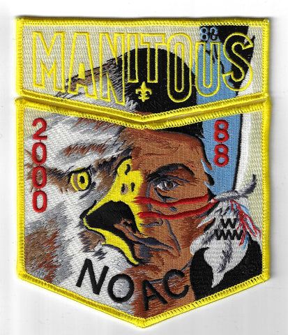 OA 88 Manitous 2000 NOAC Flap Set YEL Bdr. Great Sauk Trail MI [FBL-2594]