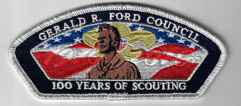 Gerald R. Ford Council SAP S-13 100 Yrs. Of Scouting SMY Bdr. (CSI $10-15) Grand