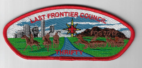 Last Frontier Council SAP SA-27 FOS 2012 Thrifty RED Bdr. (DN $185) Oklahoma Cit