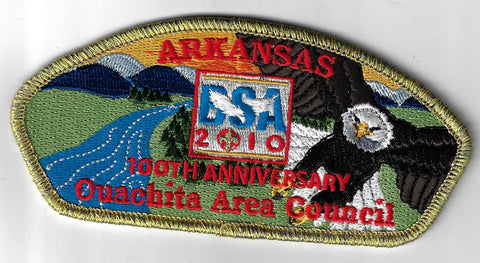 Quachita Area Council SAP S-9 Arkansas 100th Ann. GMY Bdr. (CSI $7-9) Hot Spring