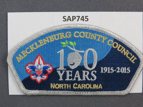 Mecklenburg County Council North Carolina CSP 100th Anniversary 2015 SMY Border - Scout Patch HQ